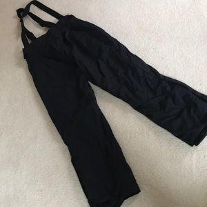 NWT Men's Columbia black ski bib pants L